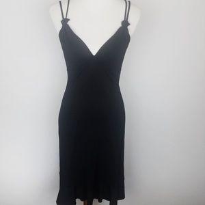 BCBGMAXAZRIA Black Shift Dress Dropped Waist